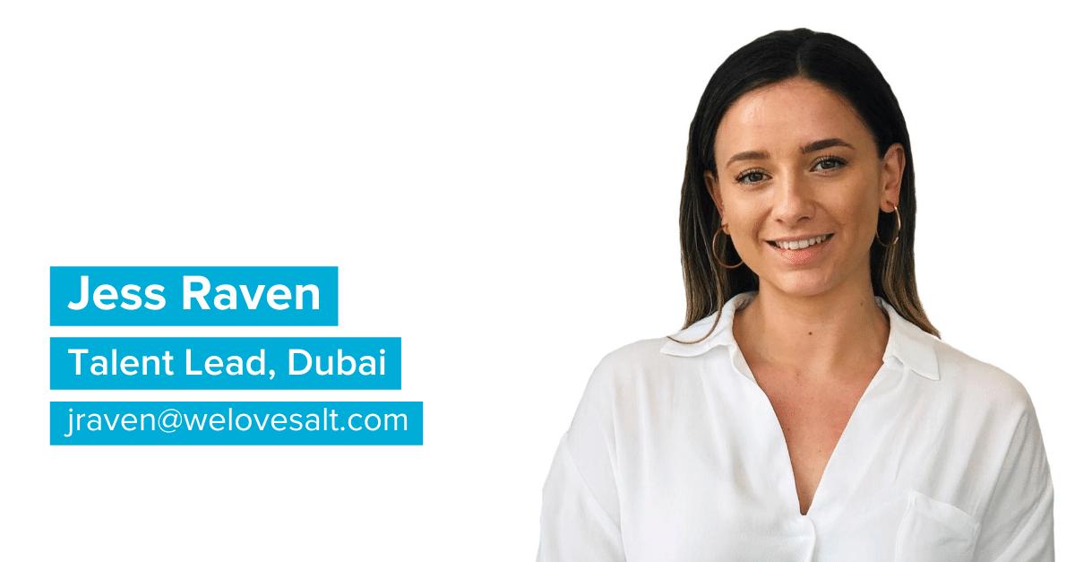 Jess Raven, Talent Lead, Dubai