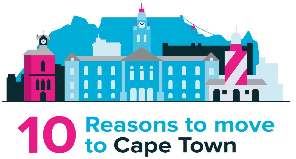 Illustration Cape Town skyline