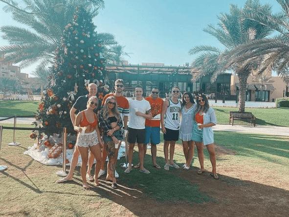 Dubai employees celebrating Christmas